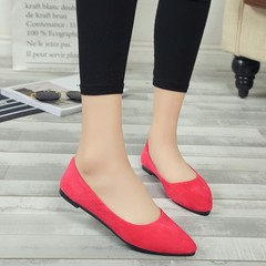 SOHI Lazy Peas Single Shoes flat with Casual Shoes Pointed Shallow Mouth Work Shoes
