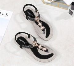 SOHI Summer new bohemian flat women shoes sandals comfortable large size women's sandals wholesale