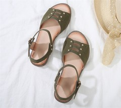 SOHI New summer simple flat bottom buckle with wild fish mouth female sandals women shoes