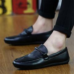 New men's shoes comfortable casual men's shoes slippes black 44