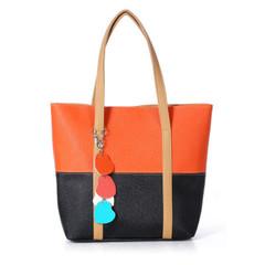 New women's shoulder bag high quality and large capacity handbags orange onesize
