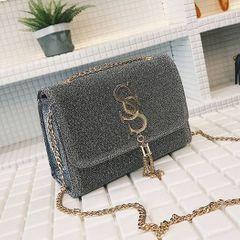 New ladies fashion tassel chic chain girl bag wild shoulder bag  women handbags silvery onesize silvery onesize