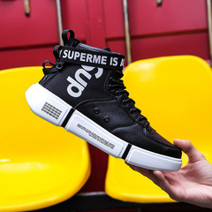 Fashion sneakers men shoes casual shoes men shoe Sports Running Breathable shock resist shoes black 39