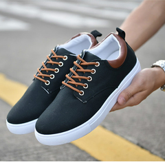 Fashion sneakers men shoes casual shoes sports shoes running breathable shoes board Shoes men black 42