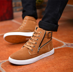 Fashion sneakers men shoes casual sports shoes Running Breathable shoes Board Shoes brown 44