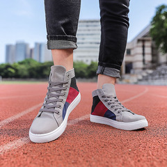 Fashion sneakers Canvas high shoes casual sports shoes Breathable Shoes Comfortable Shoes men gray 46