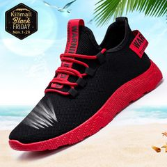 Men shoes sports shoes casual shoes fashion sneakers comfortable breathable shoe red 39