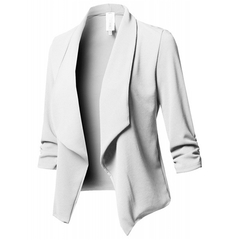 10 color eight yard long sleeve folds solid color small suit white s