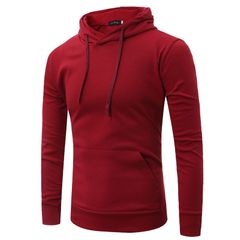 Tops large size men's casual fashion sweater red m
