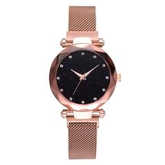 Hoki Luxury Women Watches Magnetic Starry Sky Female Clock Geometric Quartz Wristwatch Ladies Gold