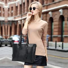 Women Leather Tote Bag Handbag Lady Purse Shoulder Messenger Casual Shopper Fashion Bag black one size