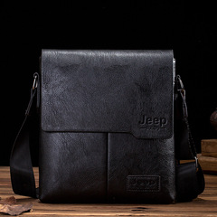 Leather shoulder bag, premium men's shoulder bag, messenger bag, handbag, briefcase for work black one size
