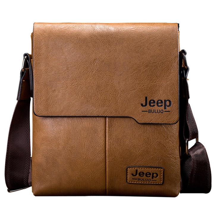 Leather shoulder bag, premium men's shoulder bag, messenger bag, handbag, briefcase for work brown one size