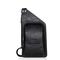 Men's Sling Bag Vintage PU Leather Chest Shoulder Backpack Crossbody Handbag Hiking Cycling Camping black one size