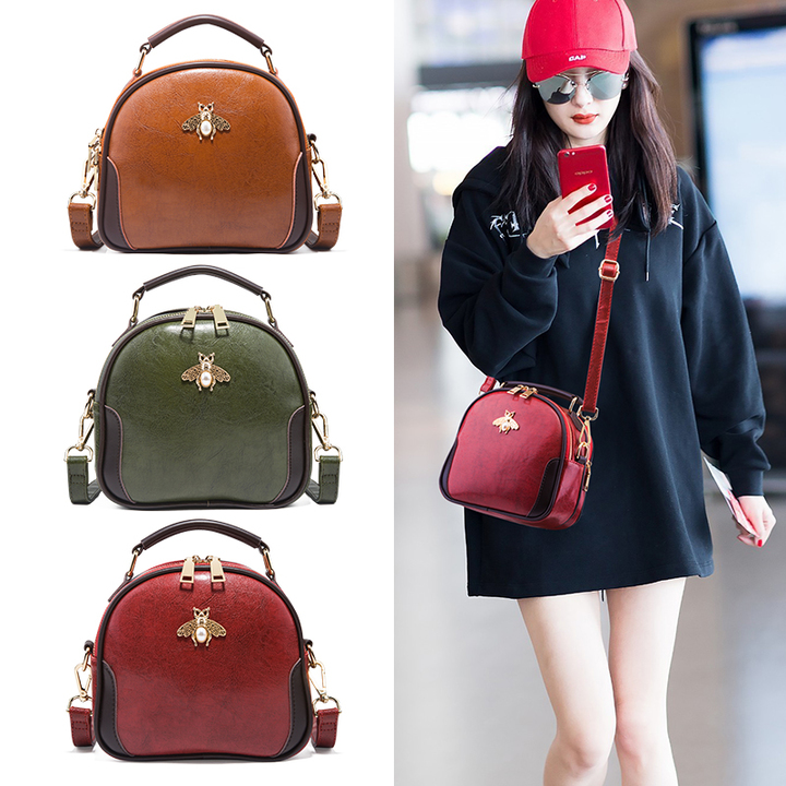Cute Shoulder Top Handle Satchel Crossbody Bag for Women Stylish Ladies Messenger Bags Purse red one size