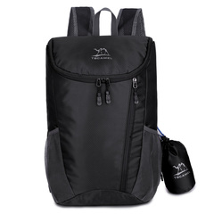 new simple style fashion outdoor lightweight sports foldable soft backpack waterproof hiking travel black one size