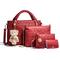 Women's handbag 2019 summer new four-piece mother bag bear shoulder slung handbag red one size