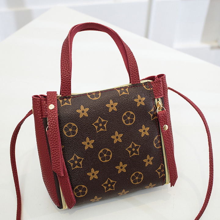 Summer mini cross-body bag, mobile phone bag fashion bag with women's single-shoulder cross-body bag red flower one size
