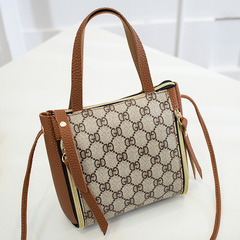 Summer mini cross-body bag, mobile phone bag fashion bag with women's single-shoulder cross-body bag brown word one size