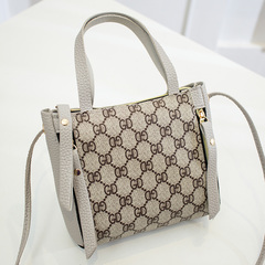 Summer mini cross-body bag, mobile phone bag fashion bag with women's single-shoulder cross-body bag gray word one size
