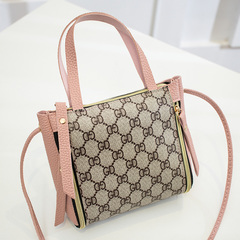 Summer mini cross-body bag, mobile phone bag fashion bag with women's single-shoulder cross-body bag pink word one size