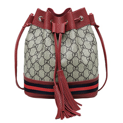 new fashion Mini Crossbody Bag Satchel Purse cross-body bag for women drawstring bucket bag red one size