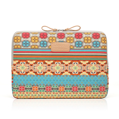 Bohemian Canvas Protective Notebook Bag Computer Case Cover . One Color 14inch