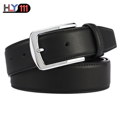 Chinese Style Needle Button Genuine Men's Belt Men's Double-sided Cowskin Belt Black