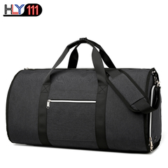 Garment Bag with Shoulder Strap Convertible Suit Travel Duffel Bag multi-functional travel bag Black One size