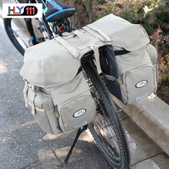 Outdoor Sports Cycling Bag Bicycle Baggage Shelf Baggage Waterproof Cycling Backpack gray one size