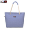 latest shoulder bag Chinese style striped casual Women handbag simple large capacity shopping bag Blue one size