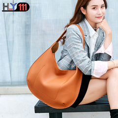 newest Women's bag Chinese fashion women's handbag shoulder slant across durable PU tote bag Brown one size