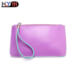 HLY111 latest Wristlet Bags, fashionable PU purse Clutch bag Chinese fashionable lady's handbag Purple One size