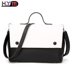 Latest Handbag Uganda fashion patchwork women's bag cross-body slant shoulder bags two-piece White one size