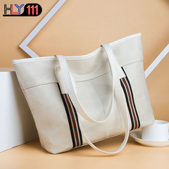 PU soft leather bags new Chinese fashion handbag with large capacity, Tote bag, leisure handbags beige one size