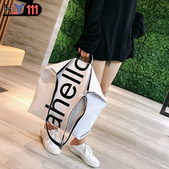 Chinese Simple Large Capacity Canvas Bag Pure Color Single Shoulder Women's Bag Recreational Handbag white one size