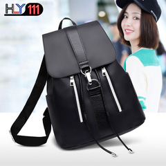 China style Leisure sports backpack multi-function USB charging computer backpack travel school bag black one