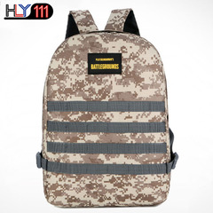 Eat chicken bag hot style three level backpack Digital Camouflage large capacity backpack travel bag Desert camouflage one size