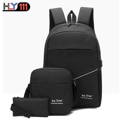 large capacity backpack Business Single Shoulder Bag Fashion wrist bag leisure backpack three sits black one size