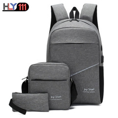 large capacity backpack Business Single Shoulder Bag Fashion wrist bag leisure backpack three sits gray one size
