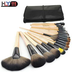 Professional 24 pcs Makeup Brush Set tools Toiletry Kit Wool Brand Make Up Brush Set burlywood Burlywood