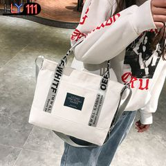 New canvas bag for women's handbag autumn style lady shoulder oblique cross fashion canvas tote bag white one size