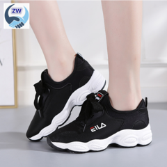 ZW Women Shoe Optionally Matched With Athletics Shoes Running Shoes PU Upper Casual Women's Shoes black 36