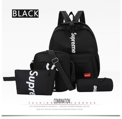 4 Pcs Set Fashion Backpack Women Back Pack Ladies Casual Women Teenage Girls Classic School Bags black one set
