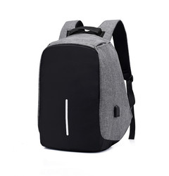 Women Men 15 inch Laptop Backpack USB Charging Anti Theft Travel Daily Business School Bag gray one size