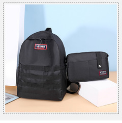 2pcs/set oxford backpack men 2019 new school bags for women bookbag sports large capacity black one set