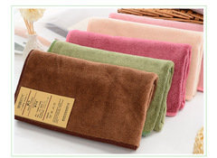 5pcs Towels Colorful Absorbent Microfiber Drying Bath Beach Face Towels Soft Kitchen Kids Baby pink 85cm*34cm