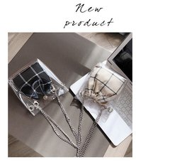 Transparent Shoulder Bags Women mini Bags Purse Handbags Crossbody Bag Clutch Phone Purse Bag black one set 19 19*18*9 pvc