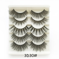 4pcs of 5 Pairs Mixed Styles 3D Mink Hair False Eyelashes 20 pairs in toal Natural Long Reusable Mix