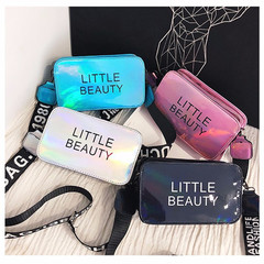 New Fashion personality Shoulder Bags for women colorful laser bag crossbody bags Adjustable strap silver one size